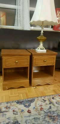 two brown wooden side tables Toronto, M2K 1G4