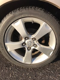 205 50 17 Mazda alloy rims with excellent condition summer tires  538 km