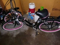 Black an pink beach cruiser with white wall tires Coon Rapids, 55433