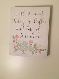 white and multicolored floral quote wall board Lynchburg, 24503