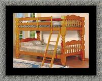 Wooden twin bunkbed frame with 2 mattress Laurel