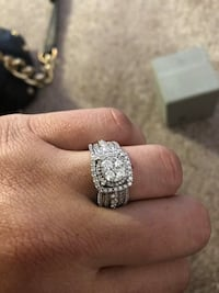 silver and diamond solitaire ring Gaithersburg, 20877
