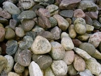 brown and gray stone lot