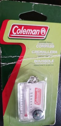 Coleman zipper pull thermometer compass