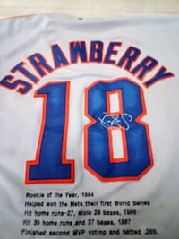 Classic Darryl strawberry Mets jerseys for 1986 world series Snapchat