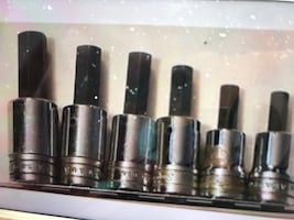 Snap on hex head socket set tools