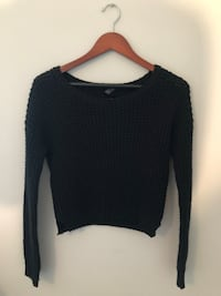 CROPPED BLACK KNIT SWEATEE Fullerton, 92832