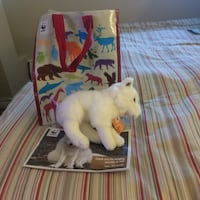 WWF Arctic White Fox plush toy