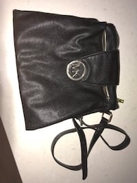 Black Michael kors leather sling bag