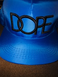 "Men's "" DOPE "" brand new snap back in royal blue. Toronto, M4Y"