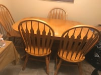 Solid Oak wood dining set of 4 chairs Suffolk, 23435