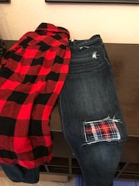 Black and red plaid shorts Odessa, 79762