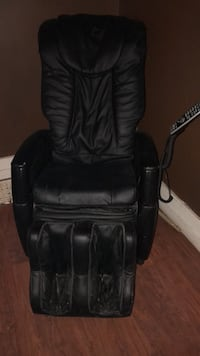 black leather padded rolling armchair Toronto, M6G