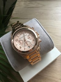MICHAEL KORS Rose Golden Stainless Steel Blair Chronograph Glitz Women's Watch Tønsberg, 3122