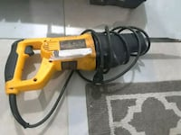 yellow and black DeWalt corded power drill Toronto, M9L 2Y7