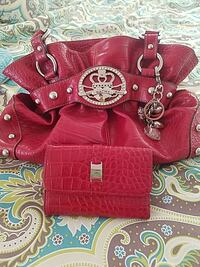 red leather Kathy tote bag with wallet set Nashville, 27856