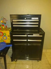 """craftsman 26"""" wide 5 drawer tool box (cash only) Houston, 77093"""