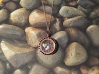 "20"" rose gold tone necklace with locket ""In Memory Of Mom"""