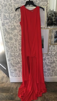 Asos Brand Red Chiffon High/Low Form Fitting Evening Dress Phoenix, 85006