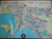 L.A. O.C. wall map Costa Mesa