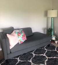 Charcoal grey chaise from Macy's! Less than year old! Eagan, 55123