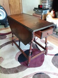 very old two leaf small table CENTEREACH