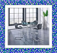 Counter Height Glass Dining Table New with 4 Chairs Elkridge, 21075