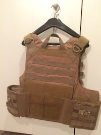 Tan Tactical Vest with Pouches Toronto
