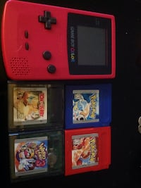 red Nintendo Game Boy Color with four game cartrid Memphis, 38134