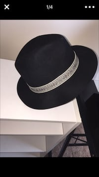 Used black and gray fedora hat for sale in Grayson - letgo a57df79c45ae