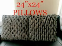 "TWO 24x24"" FAUX FUR DOWN THROW PILLOWS  Las Vegas, 89141"