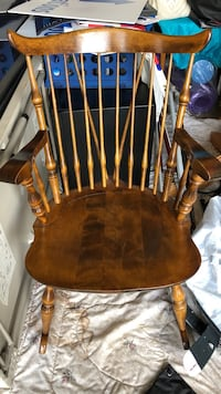 brown wooden windsor rocking chair Hillsborough, 08844