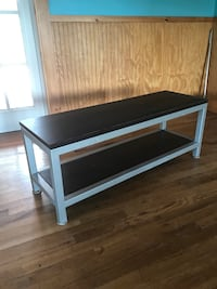 """Steel and lam. Tables 48""""x15""""x17 3/4"""" like new Laurel Fork, 24352"""