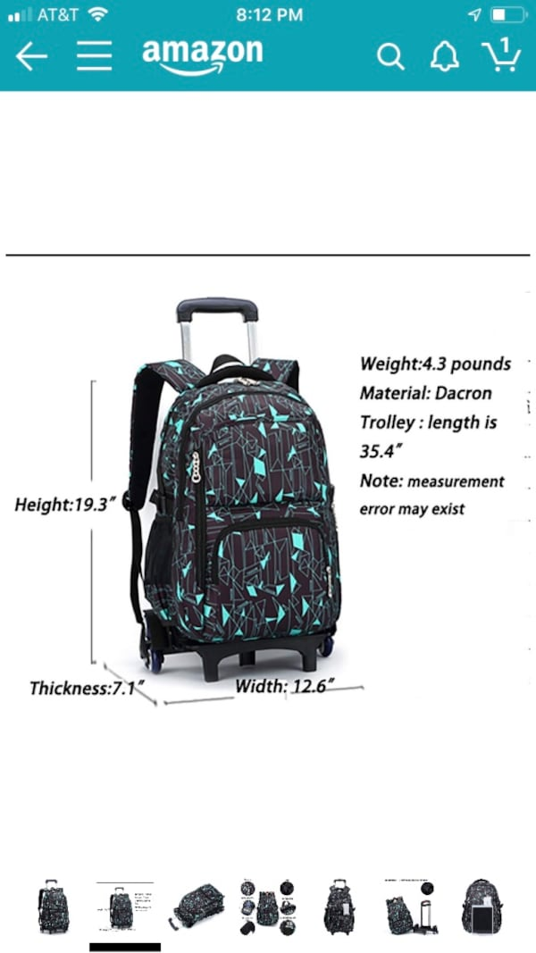 New Rolling backpack/luggage 6 wheels for staircases ac9d72f7-03ca-47c6-9518-05f42250235c