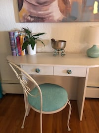 Small white desk and chair for sale Vancouver, V6M 4A2