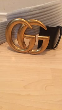 Replica Wide leather belt with Double G Toronto, M9M 3B5