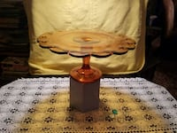 INDIANA GLASS AMBER CAKE STAND Plant City, 33565