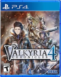 Valkyria Chronicle 4 PS4 sealed Toronto, M3L 2C7
