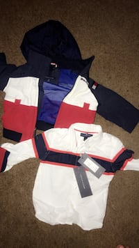 Tommy Hilfiger jackets and onesies and shirts long sleeve