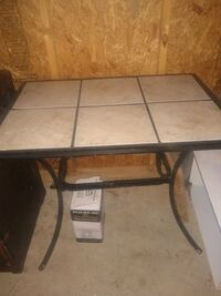 Nice tile table with two metal barstools  Murfreesboro, 37128