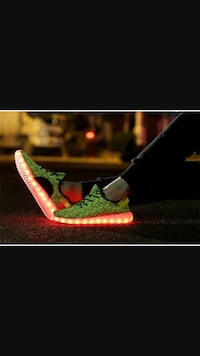 pair of green and black led sole shoes Dallas, 75234
