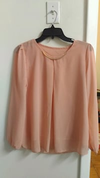 women's pink scoop-neck long sleeve shirt Rockville, 20852