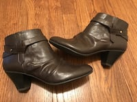 grey leather booties Maryland Heights, 63043