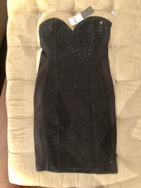 Strapless beaded DRESS. Size small. BRAND NEW Vaughan