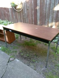 rectangular brown wooden desk table New Westminster, V3L 1L9