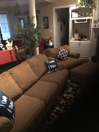 brown fabric 3-seat sofa Bossier City, 71111