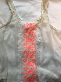 Women's white and red floral sleeveless top Annandale, 22003