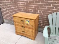 brown wooden 2-drawer nightstand Mississauga, L5J 1W8