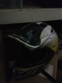 black, white, and yellow motocross helmet Riverside, 92503