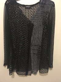 black and gray long-sleeved cardigan 3149 km
